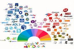 จัด 100 อันดับ สีสันบนโลโก้เของเว็บไซต์ที่ดูแล้วมีคนเข้าชมมากที่สุด