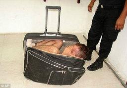 [ต่างประเทศ]พยายามหนีจากเรือนจำด้วยวิธีใส่ตัวในกระเป๋าเดินทาง