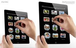 iPad mini (ไอแพด มินิ) ใช้เทคโนโลยี thin-film touch ทำให้หน้าจอบางลง