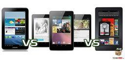 เปรียบเทียบ Nexus 7 vs Samsung Galaxy Tab 2 (7.0) และ Amazon Kindle Fire