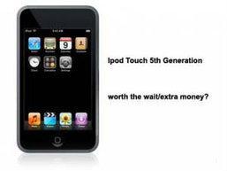 คาด iPod Touch Gen 5 ออกไม่น่าเกินปลายปีนี้