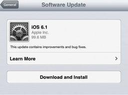 """คลอดแล้วจ้า """"iOS 6.1"""" รองรับ LTE, ใช้งาน Siri ดีขึ้น ฯลฯ"""