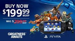 โซนี่ลดราคา PS Vita ในสหรัฐลงเหลือ 199 ดอลลาร์
