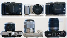 เปรียบเทียบ กล้องดิจิตอล Mirrorless : Panasonic GF1 - Olympus E-PL1 - Sony NEX-5, NEX-3