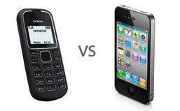 เปรียบมวย! Nokia 1280 vs. iPhone 4 ใครชนะ!?