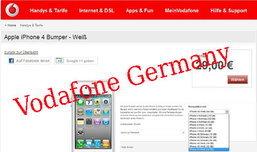 ข้อมูลเพิ่มเติม iPhone 4S ขึ้นโชว์ที่เว็บไซต์ Vodafone ประเทศเยอรมัน