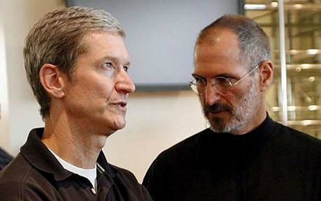 Tim Cook+ Steve Jobs