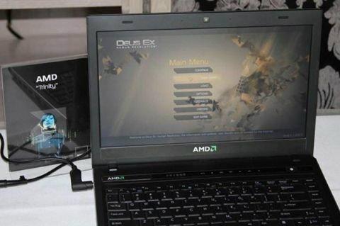 โชว์โน้ตบุ๊กชิพ APU Trinity ใหม่ จาก AMD