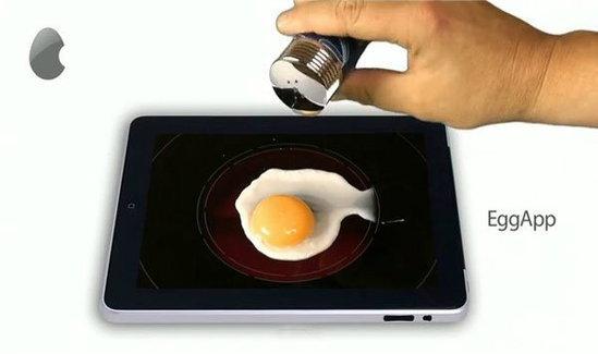 ไอเดียหลุดโลก นำ iPad 2 มาทอดไข่
