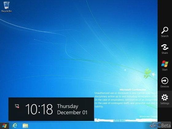 Windows 8 build 8158 หลุด! ฟีเจอร์ใหม่ และCharm Bar ที่เปลี่ยนไป