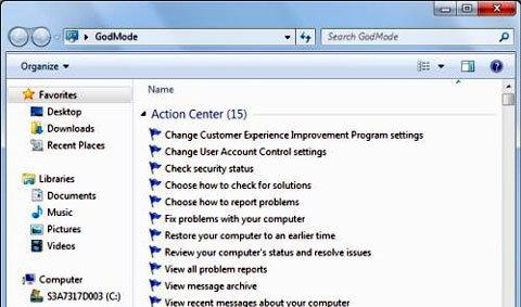 เผยความลับ God Mode ใน Windows 7