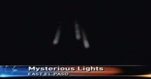 UFO โผล่บนท้องฟ้ายามมืดใน El Paso