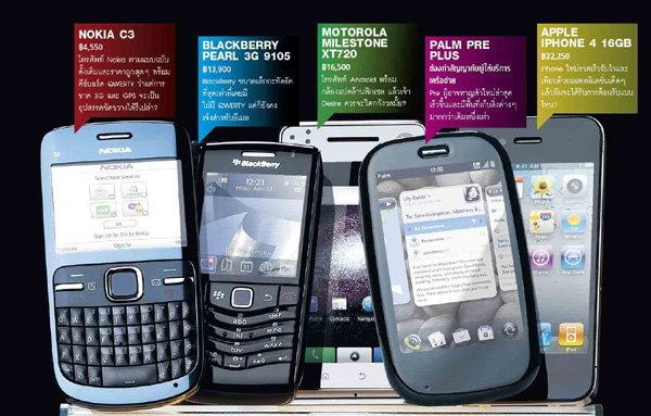 5 SMARTPHONES ที่มีไว้สำหรับเล่น APP