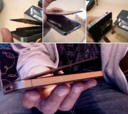 ตะลึง!!! iPhone 4 ระเบิดคาโต๊ะทำงาน