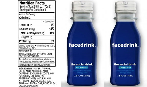 Facedrink เครื่องดื่มของเหล่าสาวก Facebook