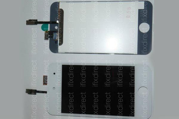 ภาพชิ้นส่วนหน้าจอ iPod touch รุ่นใหม่สีขาว