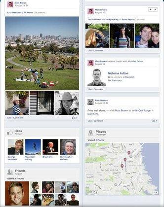 Facebook Timeline สมุดภาพ+โพรไฟล์