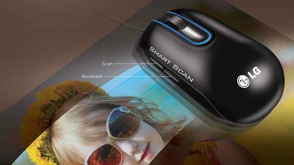 LG นำเสนอ LSM-100 Scanner Mouse ครั้งแรกของโลกที่เมาส์มีคุณสมัติสแกนภาพได้ในตัวเดียว
