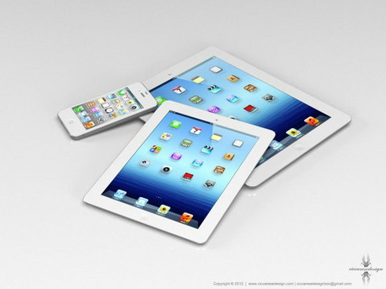ภาพจำลองหน้าตา iPad ขนาด 7.85″
