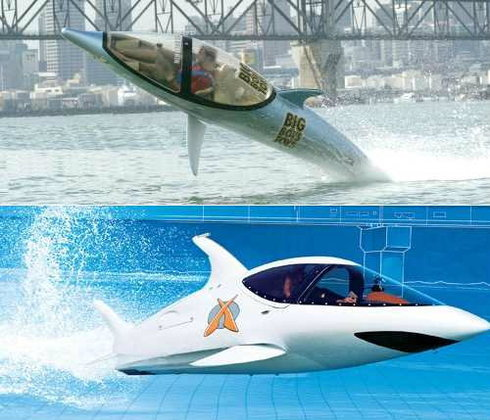 """เรือเร็วดีไซน์""""โลมา""""ดำน้ำ-กระโดดได้?"""