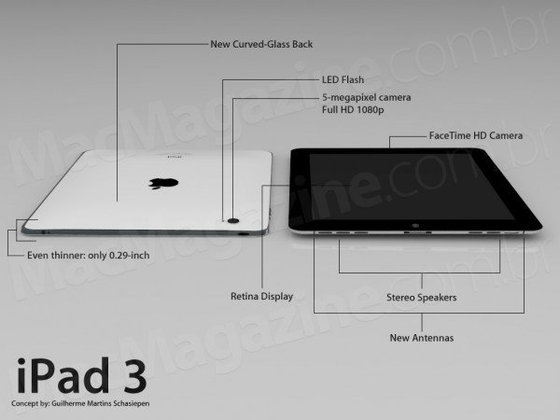 iPad 3 พร้อมหน้าจอ Retina Display รอ Apple เปิดตัวต้นปี 2012!