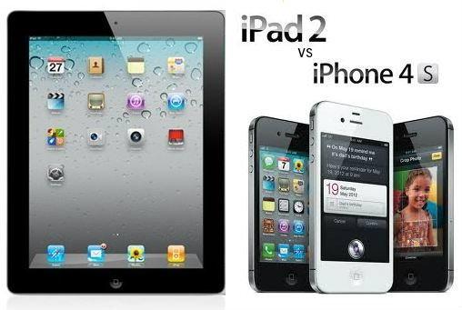 คู่แข่งตัวฉกาจของ iPad2 คือ iPhone 4s