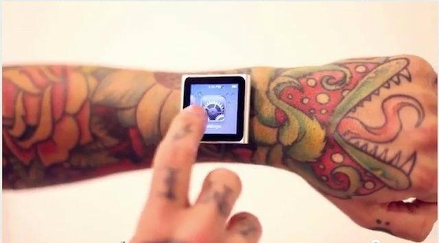 (18+) โหด...หนุ่มพังค์ฝังแม่เหล็กในข้อมือติด iPod Nano แทนนาฬิกา!