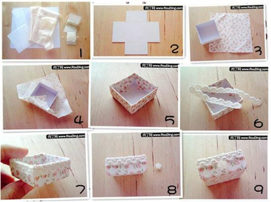 Небольшая коробочка из картона своими руками 18